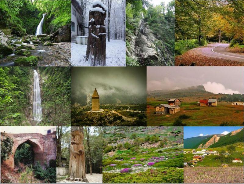 شهر جنگل ها و آبشارهای ایران