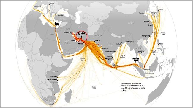 اهمیت تنگه هرمز در جابجایی نفتکش های جهان چه میزان است؟