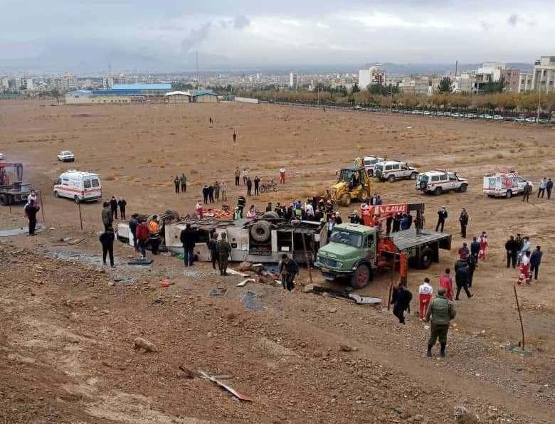 لغزندگی جاده، برای کارکنان پالایشگاه اصفهان حادثه تلخ آفرید