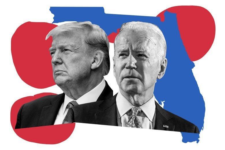 کاهش فاصله بایدن و ترامپ در انتخابات 2020