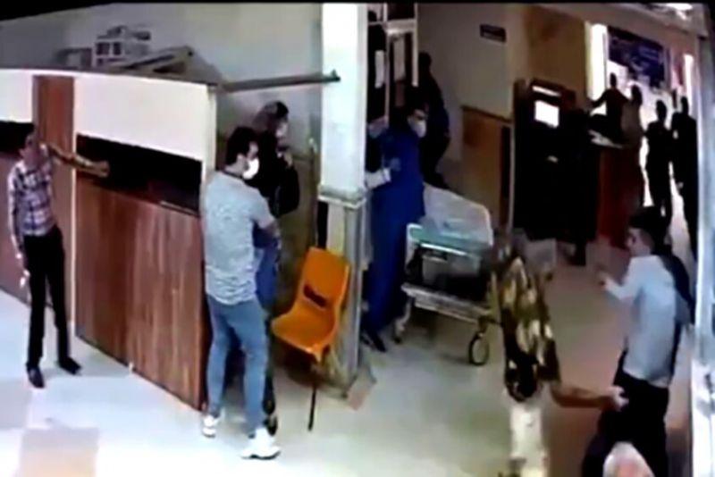 فیلم جزییات قمه کشی اراذل و اوباش در اورژانس بیمارستان رشت+آخرین وضعیت مصدومان