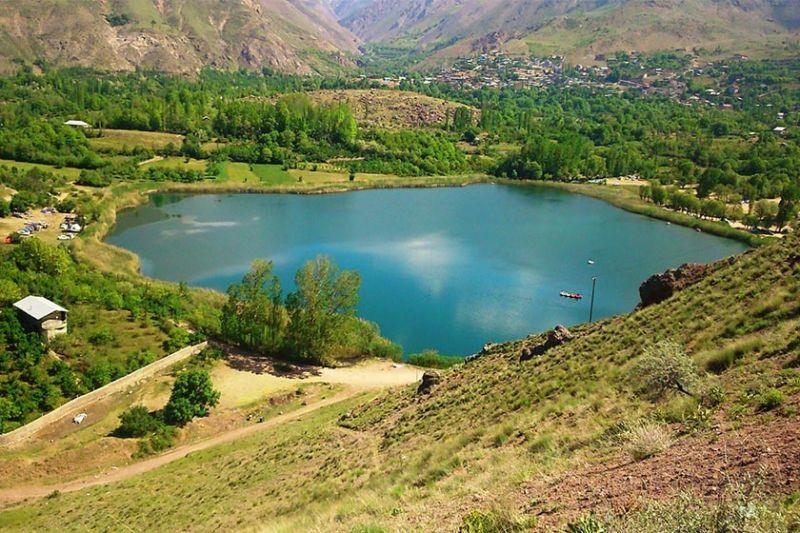 دریاچه اوان الموت بهترین گزینه برای بوم گردی در قزوین