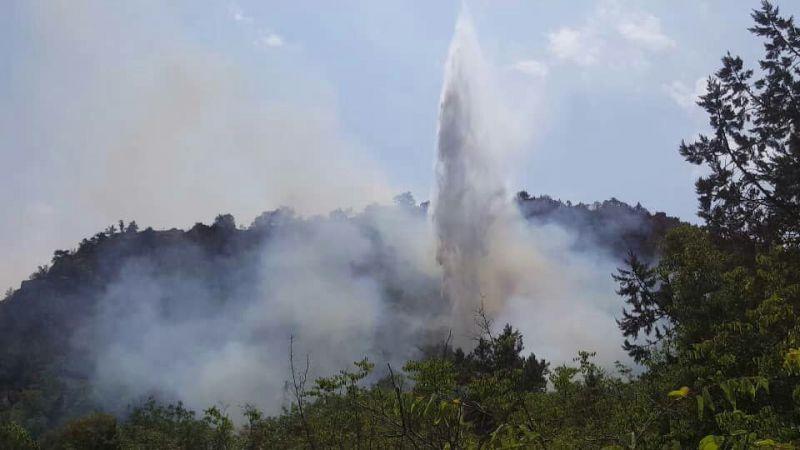 مهار آتش سوزی در جنگلهای ارسباران+عکس