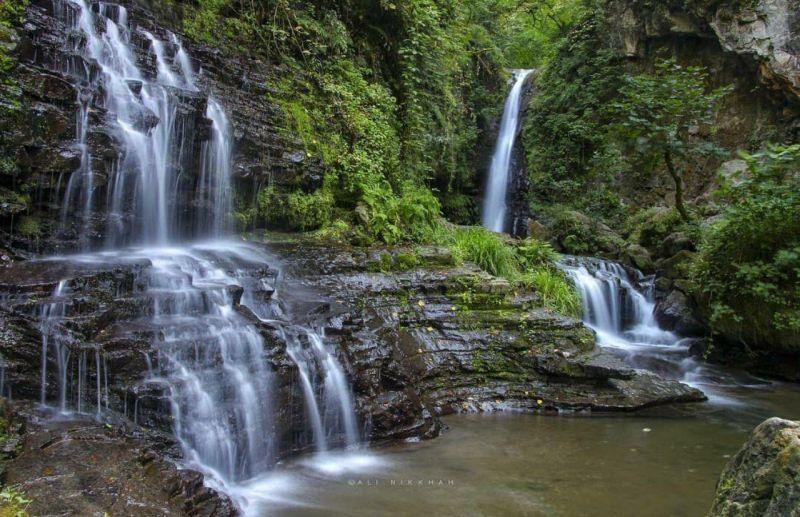 آبشار وصف نشدنی زمرد در جنگلهای تالش