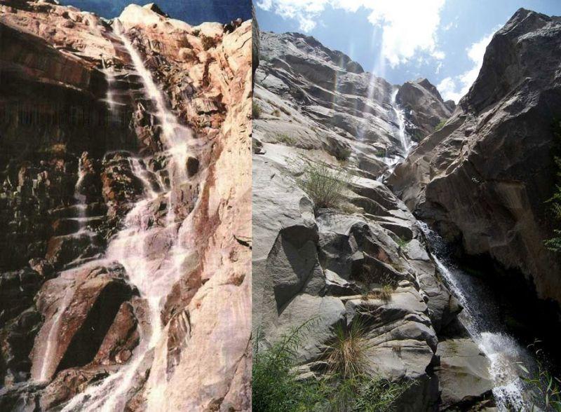 بلندترین آبشار خاورمیانه در بلندای جبال بارز