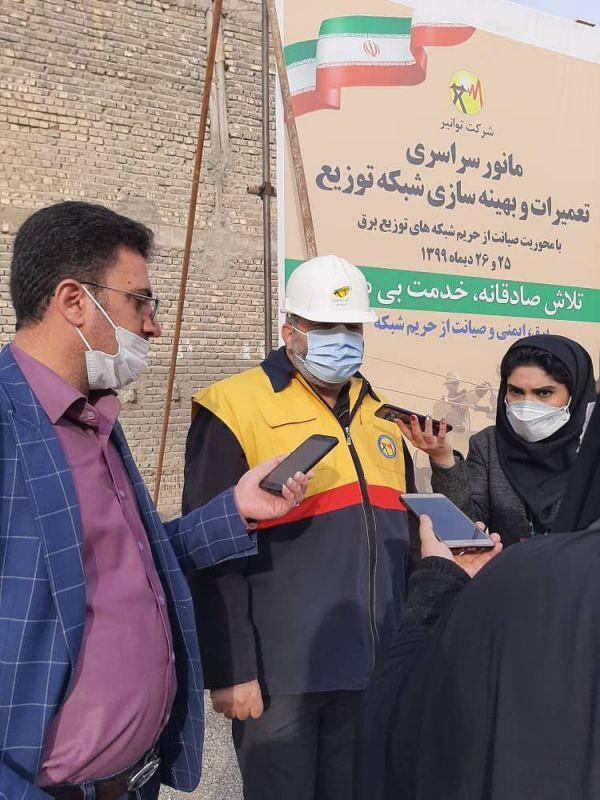 تبدیل۹۰ درصد شبکه های سیمی به کابل خودنگهدار در محدوده شمال اصفهان