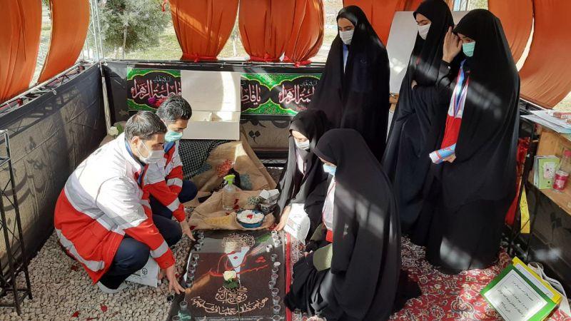 مراسم غبار روبی و عطر افشانی شهید تازه تفحص شده در وادی رحمت تبریز: