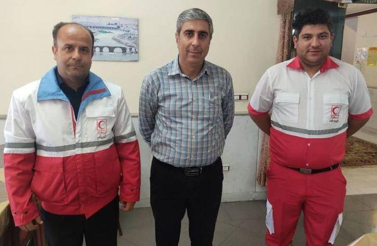 پشتیبانی و خدمات امدادی سریال در حال ساخت سلماشن فارسی توسط امدادگران هلال احمر جلفا