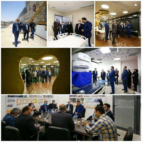 بازدید مدیر مخابرات منطقه اصفهان از شهرک سلامت