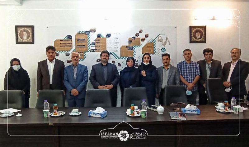 بازدید رئیس اتاق بازرگانی اصفهان از دفتر نمایندگی پارلمان بخش خصوصی اصفهان در خوانسار