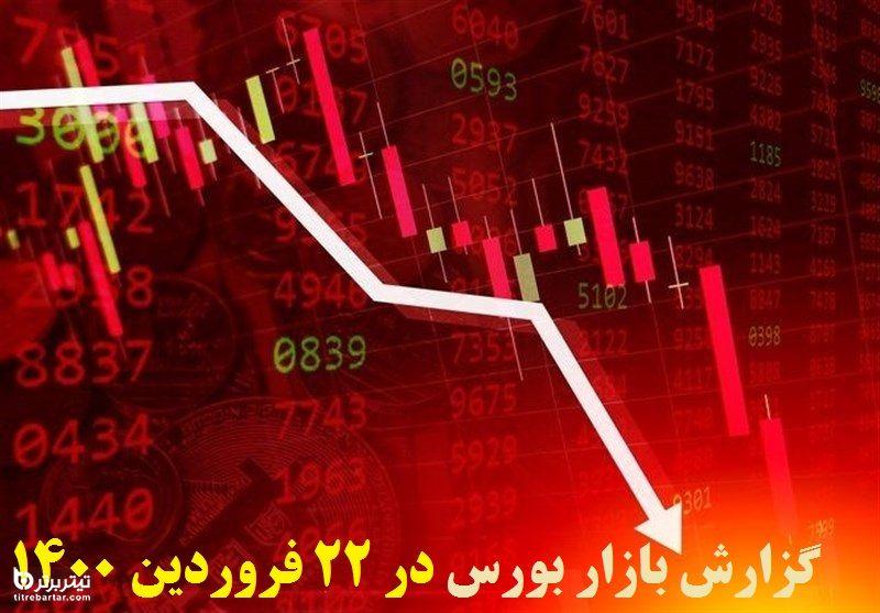 گزارش بازار بورس در 22 فروردین 1400+پیش بینی روز بعد