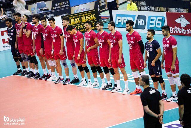 زمان بازی های والیبال ایران در قهرمانی آسیا 2021+ برنامه گروهی