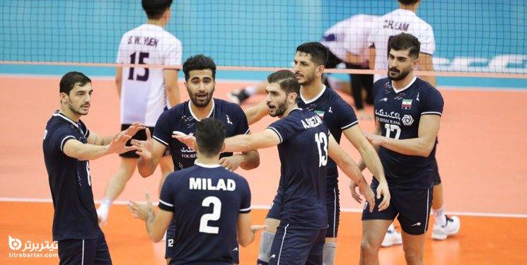 زمان بازی والیبال ایران با پاکستان در قهرمانی آسیا 2021