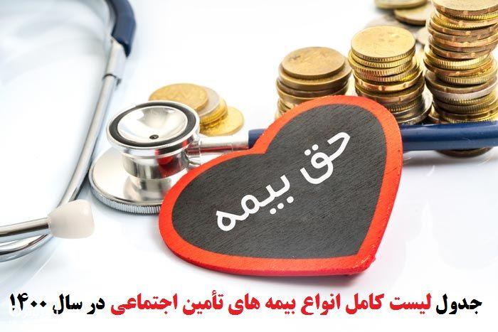 میزان حق بیمه مشاغل آزاد در سال 1400+سند