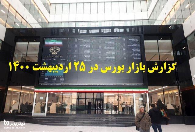 گزارش بازار بورس در 25 اردیبهشت 1400+پیش بینی روز بعد