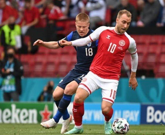 فیلم| ماجرای حمله قلبی اریکسن ستاره تیم ملی دانمارک در یورو 2020+تصاویر