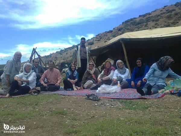 استقبال توریستهای خارجی از تور کوچ عشایر