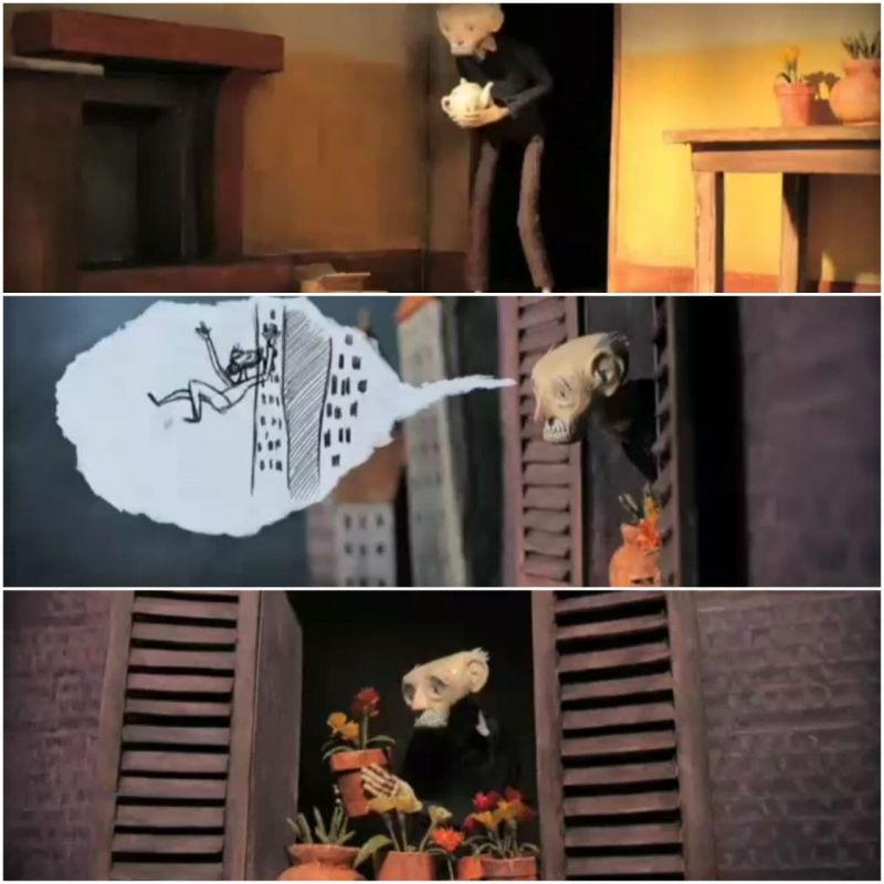 پخش و دانلود انیمیشن کوتاه مردی که از افتادن می ترسید