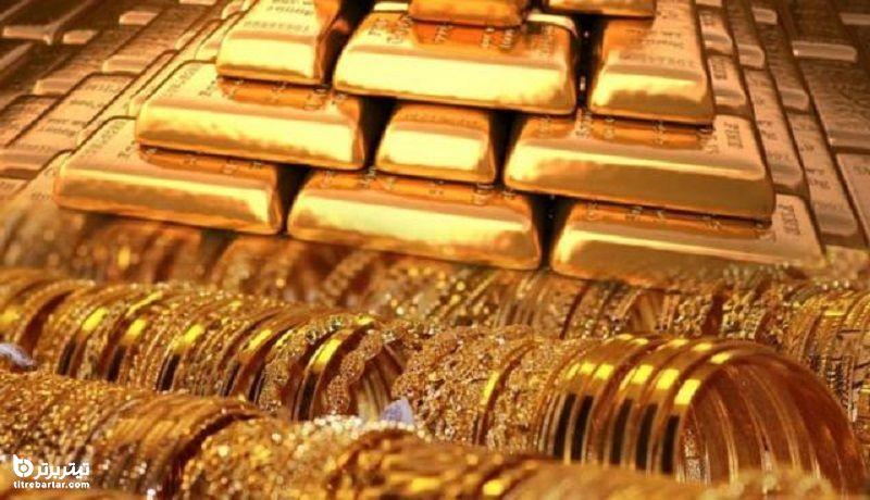 مقایسه رشد طلا با دلار در مرداد 1400