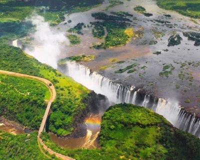 تصاویری از آبشار ویکتوریا زیمباوه قبل و بعد از خشک شدن