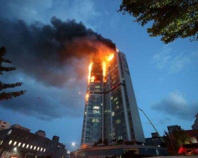 تصاویر دیدنی روز؛ از آتشسوزی در کره جنوبی تا اعتراضات در اندونزی