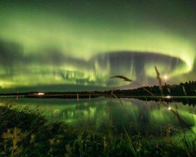 تصاویر دیدنی روز؛ از شفق قطبی تا نقاش عجیب و غریب