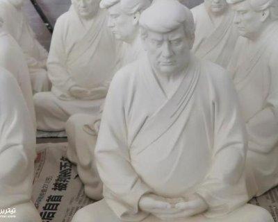 تصاویر دیدنی روز؛ از تندیس بودایی ترامپ تا صعود به آسمانخراش 116 متری