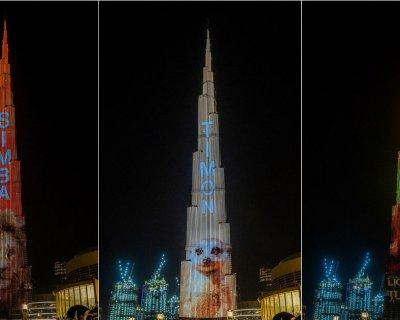 (تصاویر) شیرشاه روی بلندترین آسمانخراش جهان