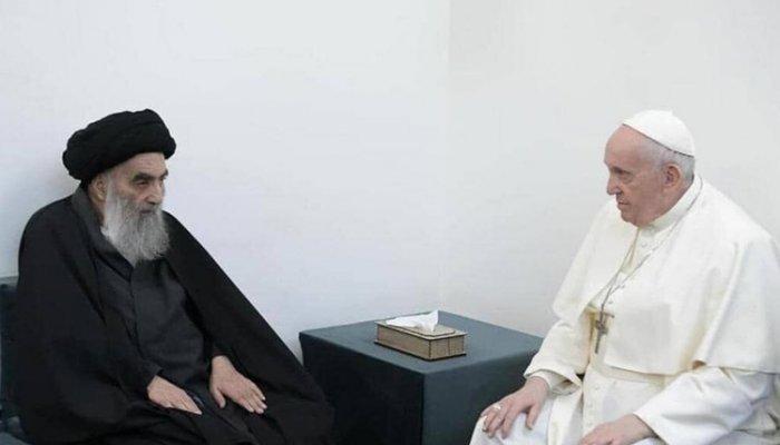 تصاویر دیدنی روز؛ از دیدار پاپ با آیتالله سیستانی تا بوکس بازی پیرزن 75 ساله