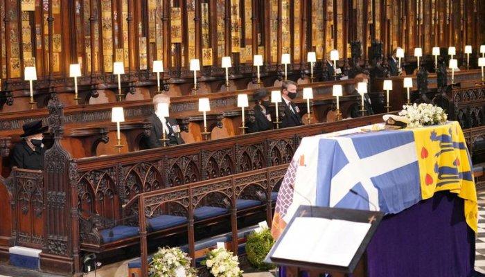 تصاویری از مراسم تشییع جنازه شاهزاده فیلیپ