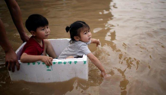 تصاویر سیل ژنگ ژو چین در 2021
