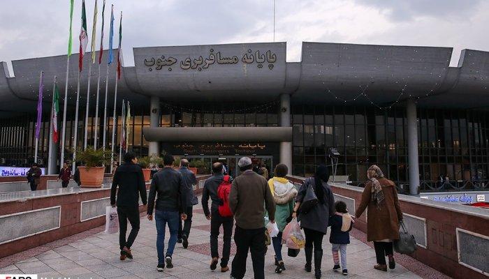 حضور مسافران نوروزی در ترمینال جنوب تهران